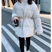 秋冬新入荷★  カラーバンド   厚い    韓国ファッション   綿入れ   アウター