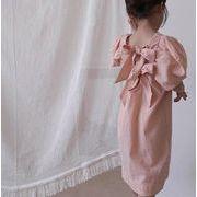 韓国ファッション 韓国子供服 ワンピース 2020春夏新作 子供服 ワンピース 80-130cm