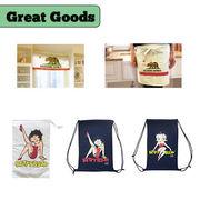 【決算大SALE!!Pt.2】【Betty Boop】カリフォルニア ナップザック 巾着 エプロン カフェカーテン