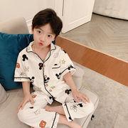 パジャマ ズボン トップス セット上下2点 夏 通気性 ジュニア 韓国子供服 2020新作 SALE ファッション