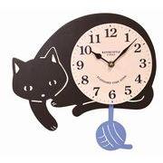 【11月下旬入荷予定】クーナ 振り子時計 クロネコ