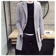 モデルのショー服  中・長セクション 暖かい 厚手 ウールコート コート ハンサム ウィンドブレーカー