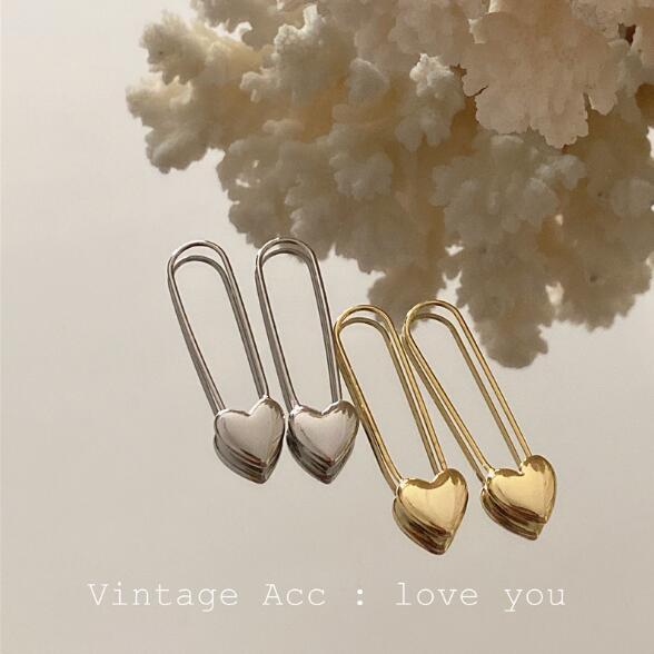 ピアス アクセサリー ハート 気質 金属 幾何 レディースファッション