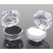 指輪ケース/指輪箱/アクセサリーボックス/透明ケース/アクリルケース/3.9*3.9CM