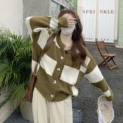 松 セーター カーディガン アウターウェア 女性服 設計感 春秋 新しいデザイン 復古格