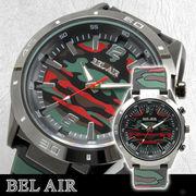 【ミリタリー仕様】★Bel Air Collection ミリタリー メンズ腕時計 OSD32xRED  【保証書付】