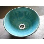 ブルーガラス釉 24cm 小