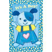 Stockwell Greetings グリーティングカード 出産祝い 男の子用 犬×ハート