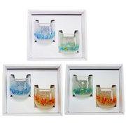 【感謝をこめて沖縄伝統工芸品を贈ります】リップルたるグラス2個ギフトセット