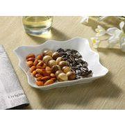 【強化】 盛皿(食卓が華やかになるお洒落な飾り枠付き)(小)    おうちカフェ/フレンチ皿/白食器