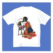 FJK 日本 お土産 Tシャツ 浮世絵 Sサイズ (ホワイト)No.2-S