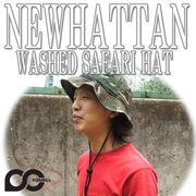 NEWHATTAN     COTTON STONE WASHED SAFARI HATS  12492