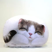 【HenryCats&Friends】ヘンリーキャット ネコ型クッション 中 メロディー インテリア 猫 ねこ 雑貨
