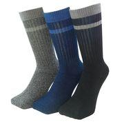 丈夫さ、暖かさ、防臭を実現した靴下 銀マジック 先丸 厚地パイルソックス 3足セット