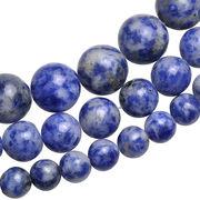 ▼MAGGIO▼【ビーズアクセ】お得な価格にて販売中♪ 天然石ミックスブルーカラー丸玉1連