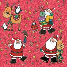 Daisy  ペーパーナプキン クリスマス サンタ・トナカイ・プレゼント