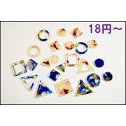【アクリル製】べっ甲柄幾何パーツ(穴付き) 単価18円より 両面研磨&ツヤコーディング加工済