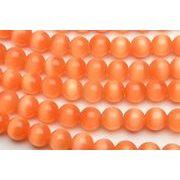 【キャッツアイ (オレンジ)】6mm 1連(約35cm)_R1674-6/A5-4
