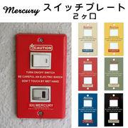■キーストーン■■DIY特集■ MERCURY スイッチプレート 2ヶ口