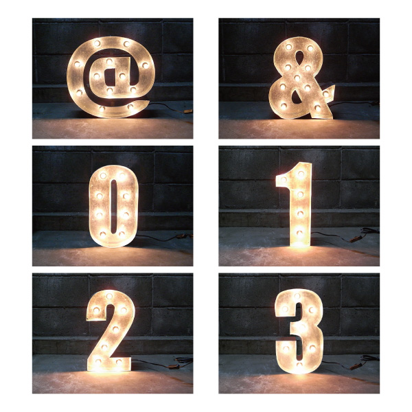 SIGN WITH LIGHT 「@ & 1~3」