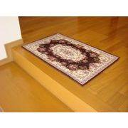 ゴブラン織り玄関マット:ボルドー 50x80 ブラウン