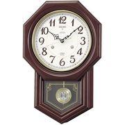 【新品取寄せ品】セイコークロック 電波振り子掛時計 RQ205B