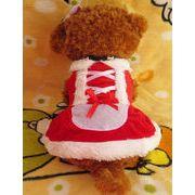 【自社工場】犬服 ペットスカート 冬 クリスマス サンタ ワンピース コスチューム