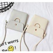 ★バッグ新作★レディース  ショルダーバッグ  財布    シンプル  斜め掛け 携帯バッケージ 5色