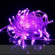 【紫・パープル】イルミネーションLEDライト100球 10m 防雨仕様 コントローラ付