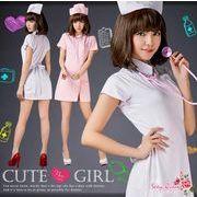 3点セット★コスプレ ナース ピンク 可愛い ハロウィン ナース コスチューム ナース服 衣装
