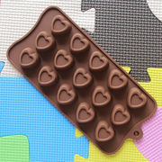 シリコーンモールド チョコレート型 バレンタイン ハート 15個取り プレゼント