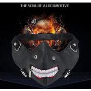 スタッズ マスク メンズ レザー マスク レディース フェイスマスク ★ ブラック ロック パンク 衣装