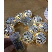 LEDライト ガーランド シャイニーミラーボウル /LED インテリア ライト 照明 装飾