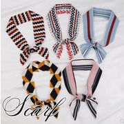 BLHW156544◆5000以上【送料無料】◆バッグスカーフ◆ヘアアレンジ万能アイテムツイリースカーフ