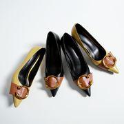 バイカラーパンプス ハイヒール靴 レディースシューズ