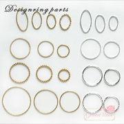 金属チャーム♪デザインリングパーツ♪★リング金具/アクセサリー/J6-2673-2694