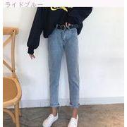 韓国風 新しいデザイン ルース 女性のジーンズ 春 何でも似合う バリ ハイウエスト ス