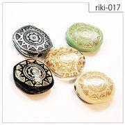 【riki-017】フラットラウンド型 rikiビーズ ヴィンテージ風 モダンビーズ