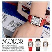 【REBIRTH リバース】セイコームーブ 日常生活防水 シンプル光沢レザーベルト 上品 RB006 レディース腕時計