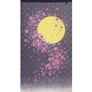 のれん 150cm丈 「月光桜」【日本製】和風 コスモ 目隠し