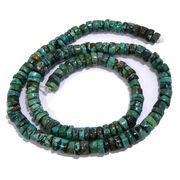 天然石 ビーズライン 卸売/ターコイズ緑(Turquoise Green) チューブビーズ 約6mm