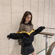 2018年新秋の作 超人気  韓国ファッション   レオパード柄   長袖   スウェット   トレーナー