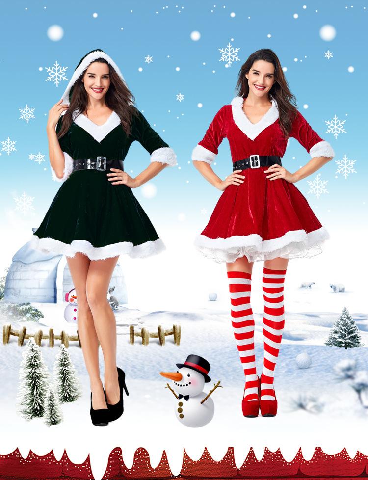M~2L★2018クリスマス サンタ  Christmas 衣装  コスプレ サンタクロース コスチューム 2set