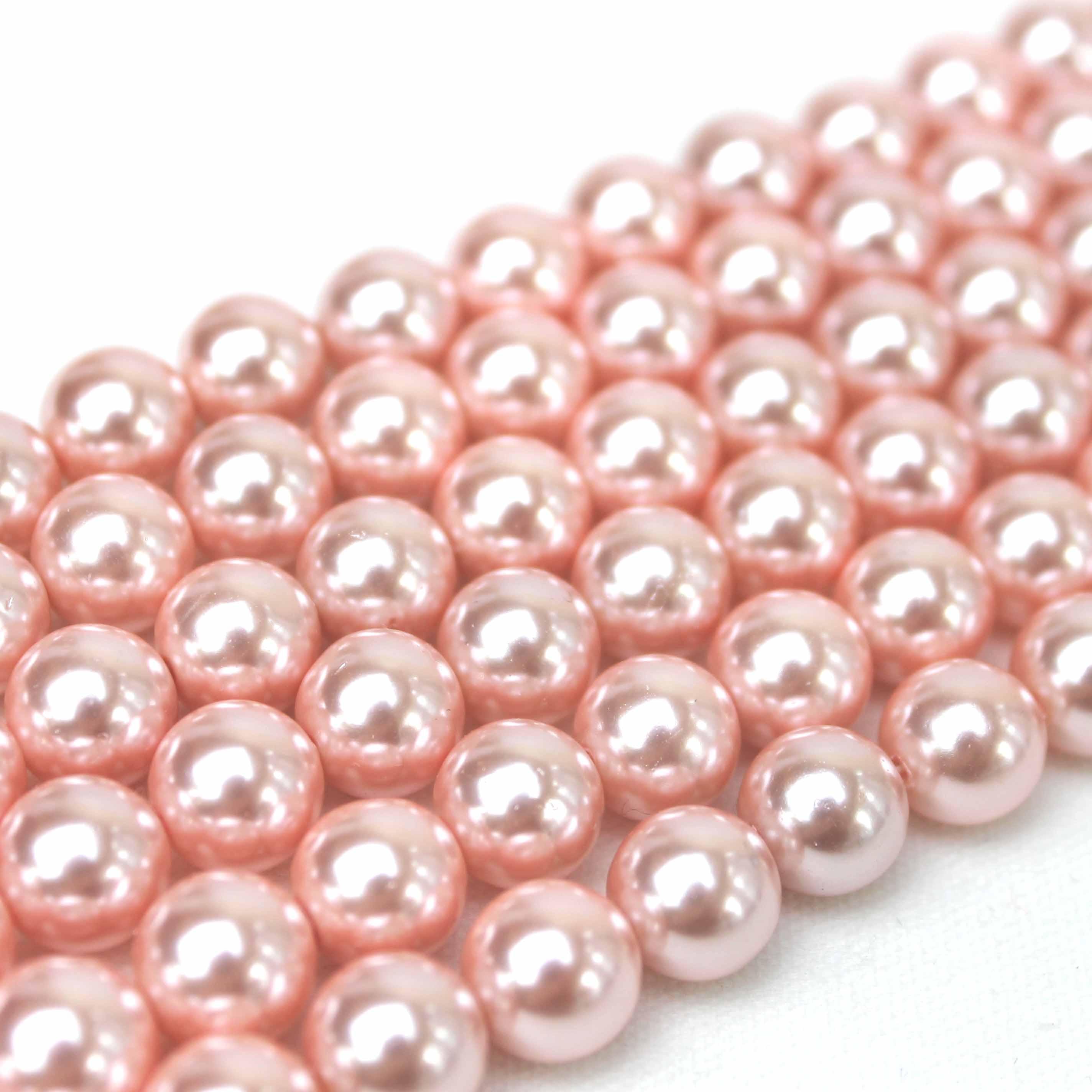 連 シェルパール ピンク 丸 8mm    品番: 9945