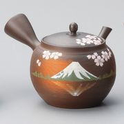 美味しいお茶を淹れるならこれ!!■常滑焼急須【富士急須/セラメッシュ網】玉光千段桜富士急須