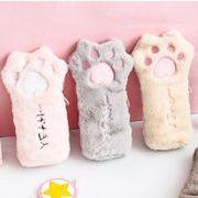 猫 肉球 ネコ ファー 韓国 文房具 刺繍 大人気 文具 ペンケース 筆箱 ツールポーチ