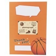 【色紙・賞状】バスケットボール部 二つ折り メッセージボード/部活シリーズ