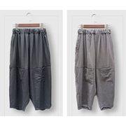 【春夏新作】ファッションパンツ♪グレー/ブラック2色展開◆