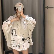 夏 韓国風 シャツ ルース 何でも似合う 長袖 日焼け止めシャツ デザイン 感 小 シャ