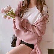 超人気インスタグラムで話題 韓国   怠惰な風 Vネック 百掛け ニットトップス ゆったりする セーター